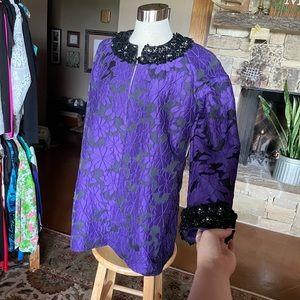Frascara Flower Detail Sequin Blazer